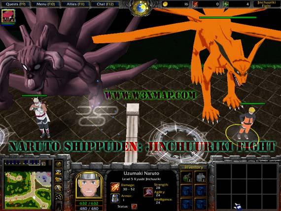 download map warcraft naruto